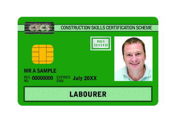 CSCS Green Labourers Card - Level 1 Health and Safety in a Construction Environment